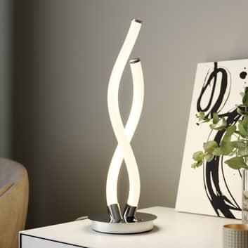 Lucande Wewa -LED-pöytälamppu, 3-port. himmennys