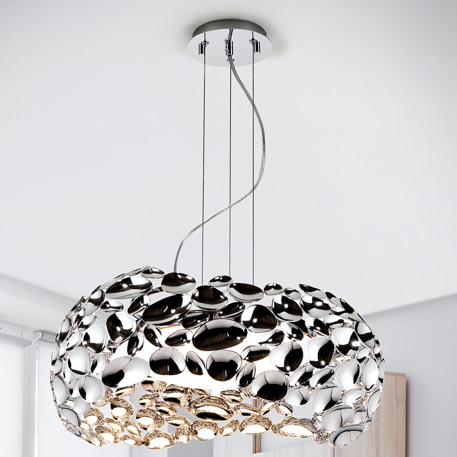 LED-hänglampa Narisa 47 cm blankt krom