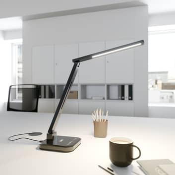 Arcchio Libia LED tafellamp laadstation zwart