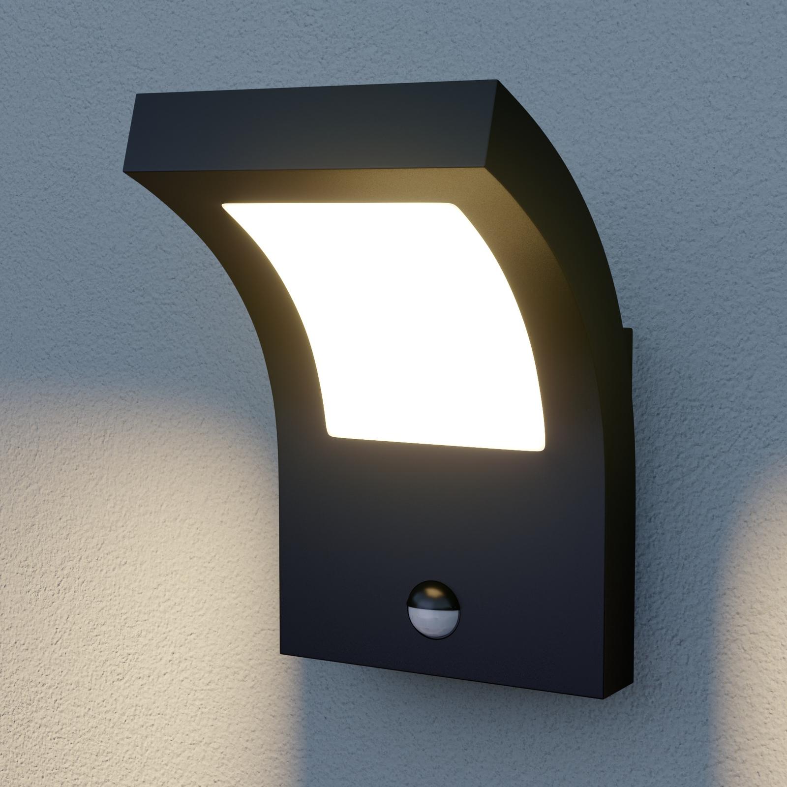 Arcchio Advik utendørs LED-vegglampe med sensor