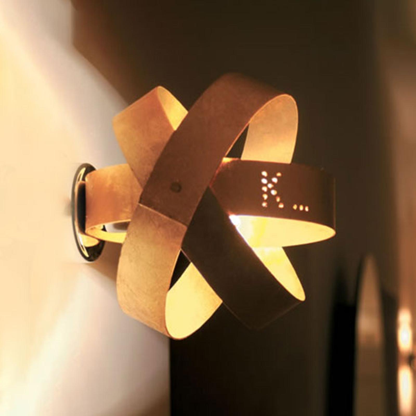 Knikerboker Ecliptika goldfarbene LED-Wandleuchte
