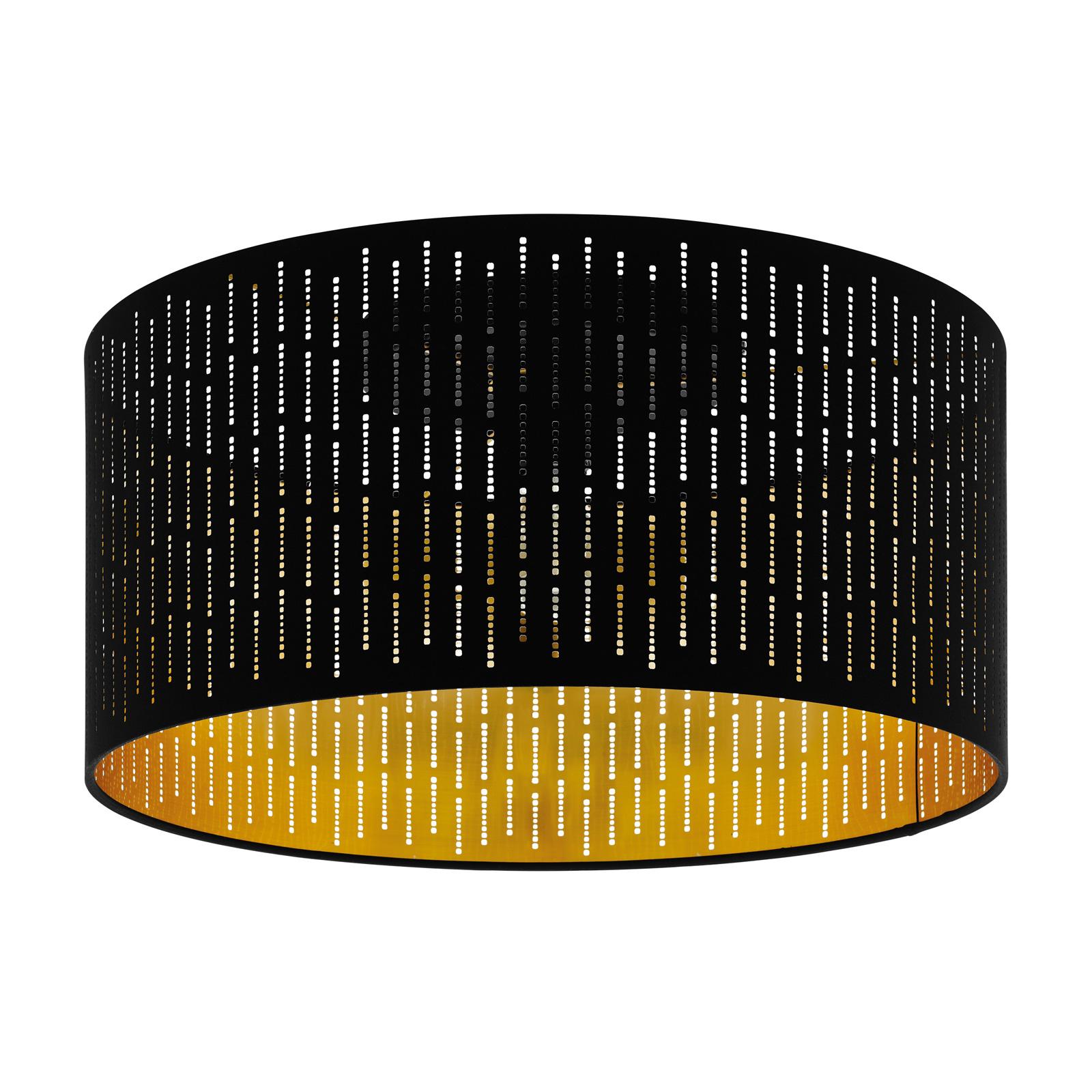 Taklampe Varillas i svart/gull
