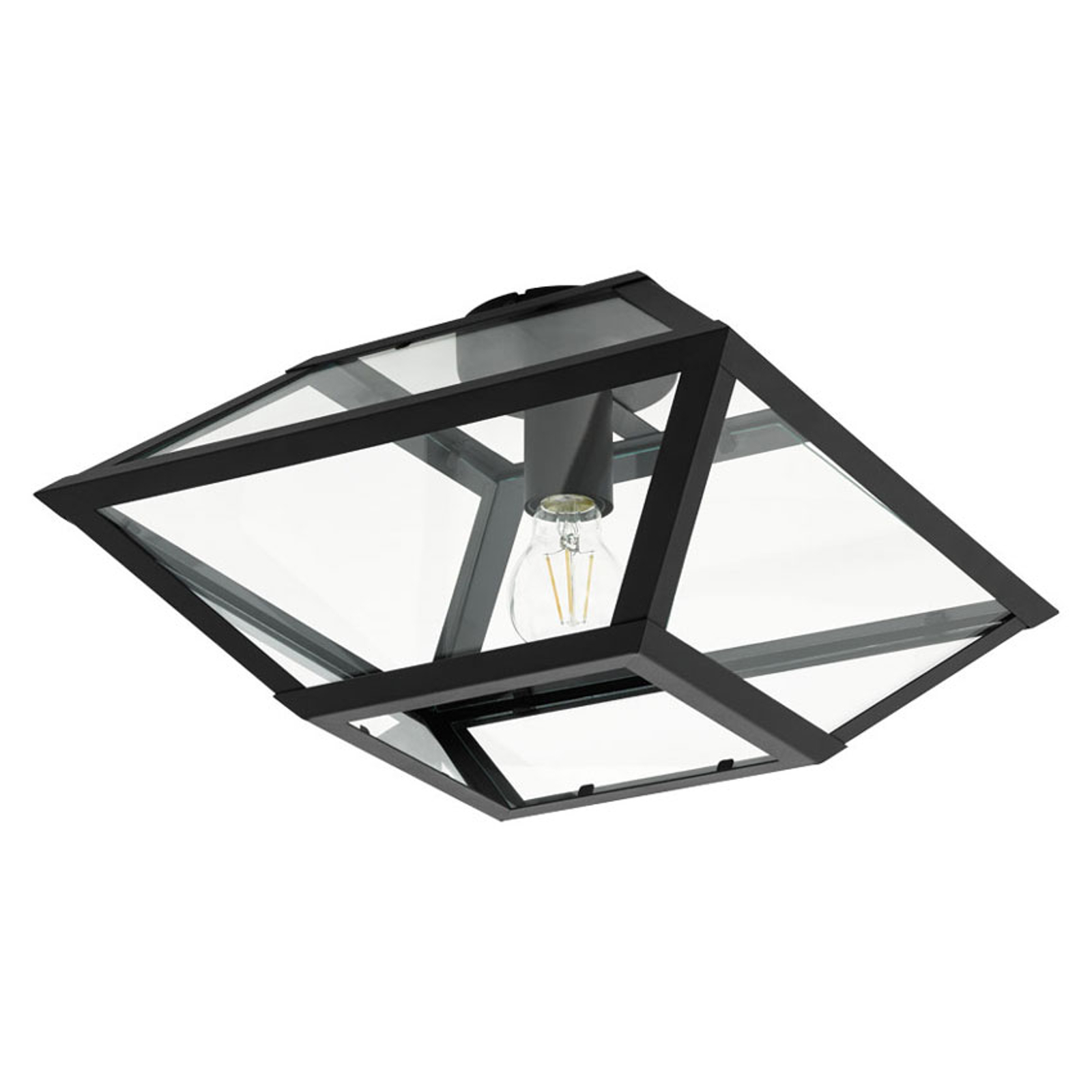 Lampa sufitowa Casefabre ze stali, 37x37 cm