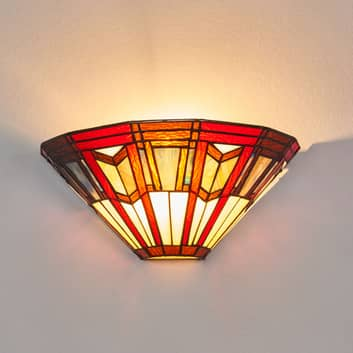 LILLIE - væglampe i Tiffany stil