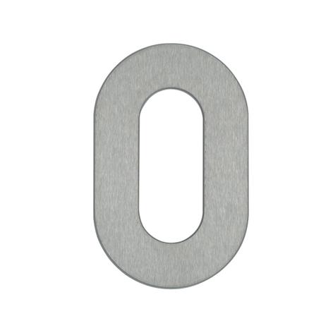 Huisnummers van roestvrij staal