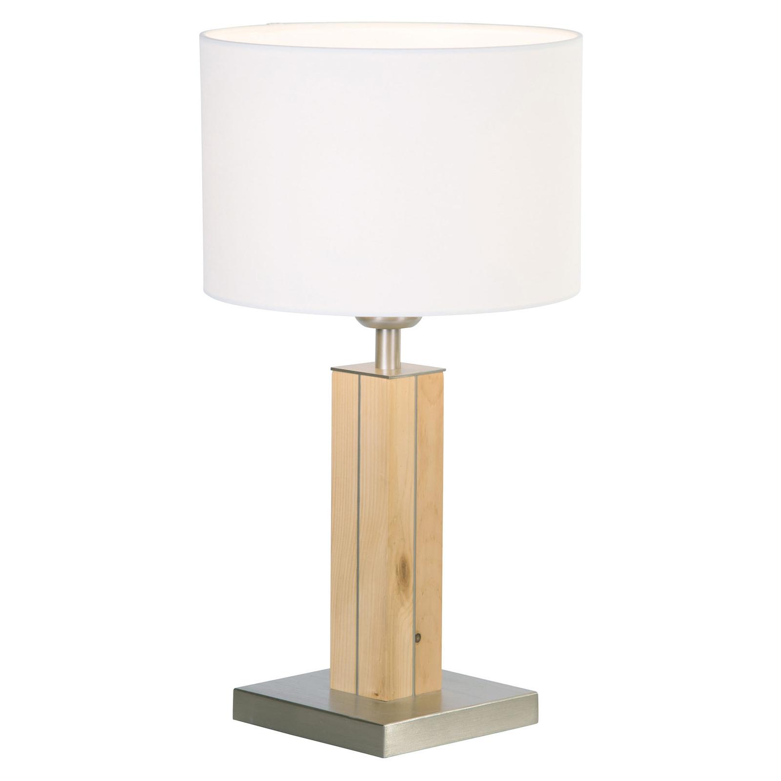 HerzBlut Dana lampe table pin cembro blanche 41cm