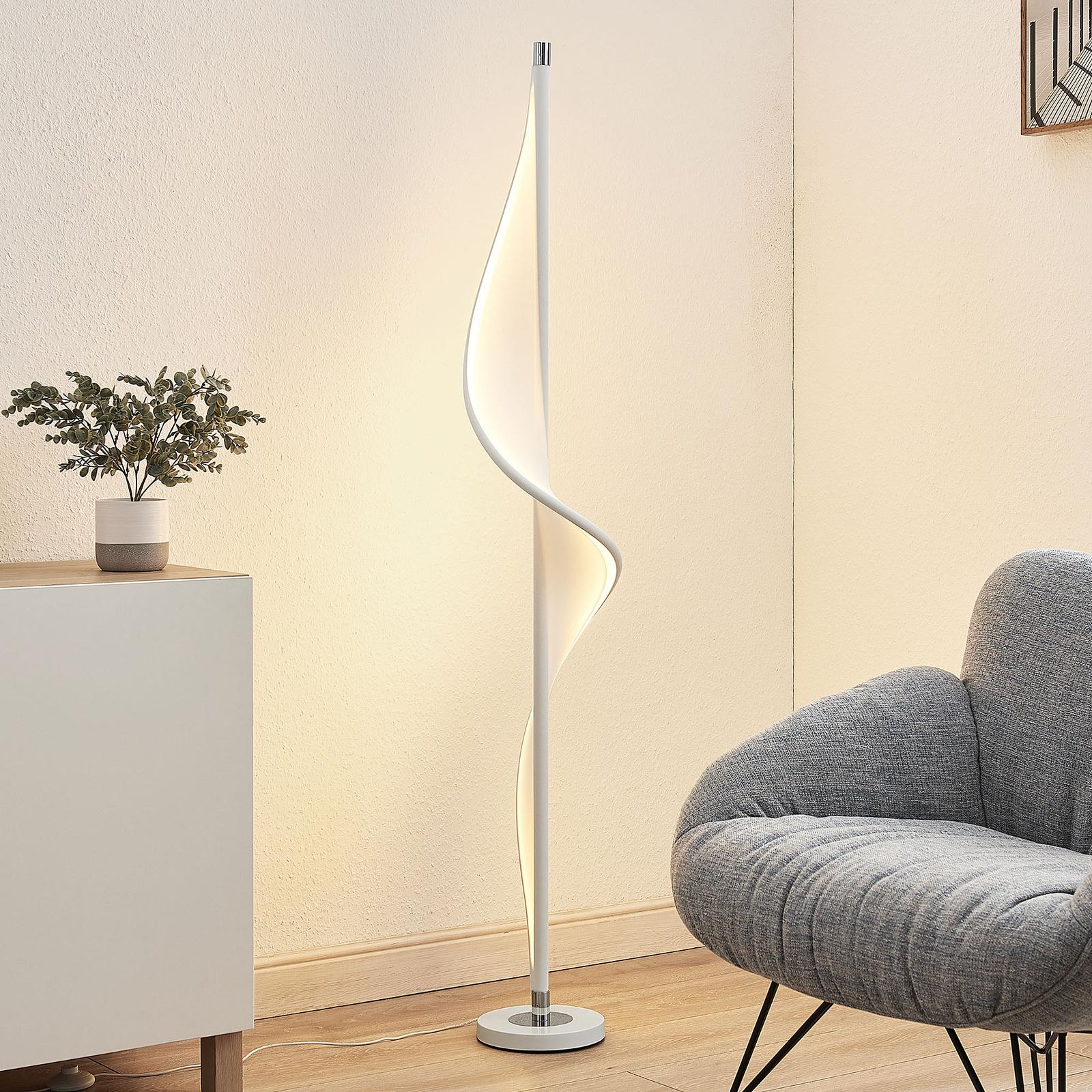 Lucande Edano LED-gulvlampe i vridd form