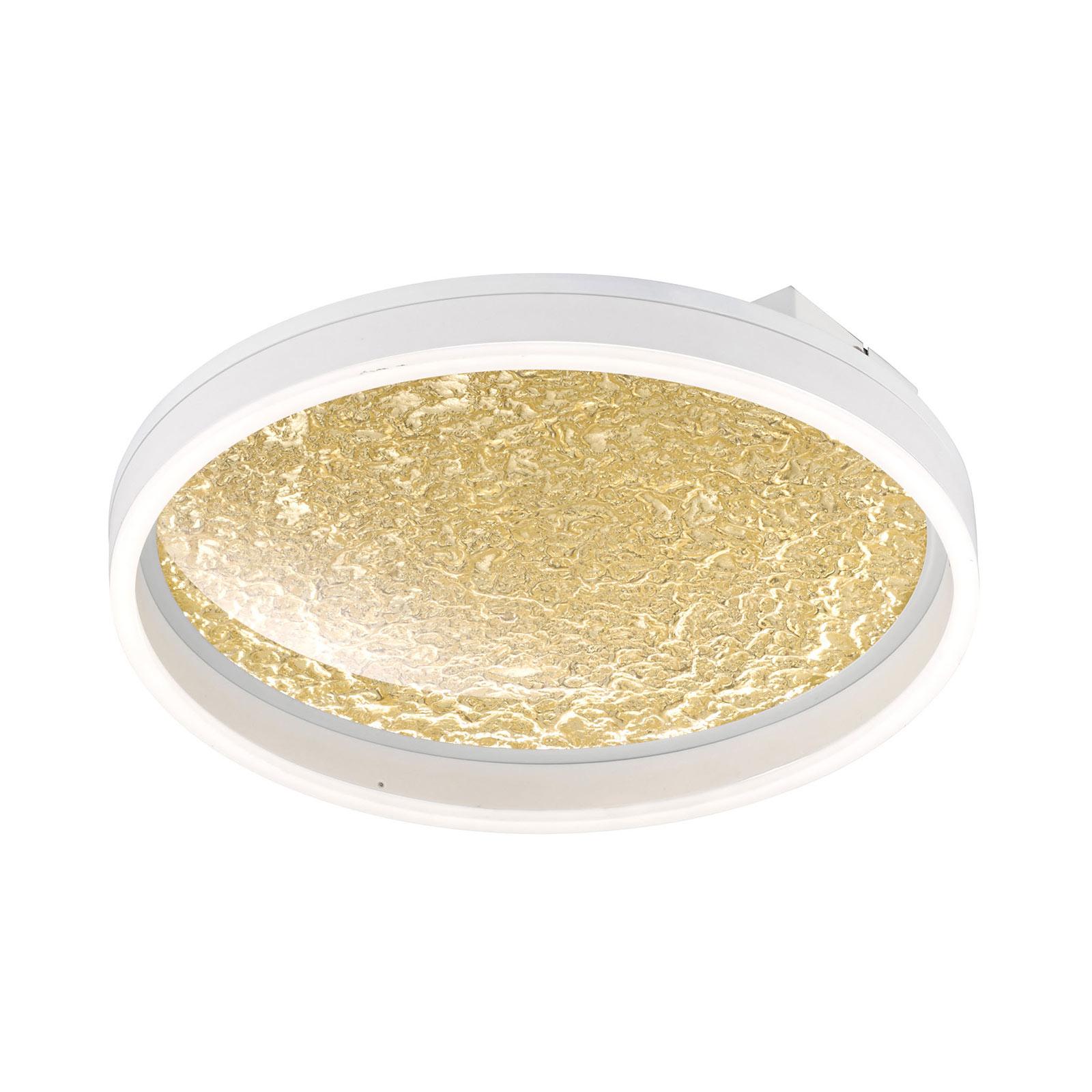 LED-taklampa Bali, dimbar, guld, 40 cm