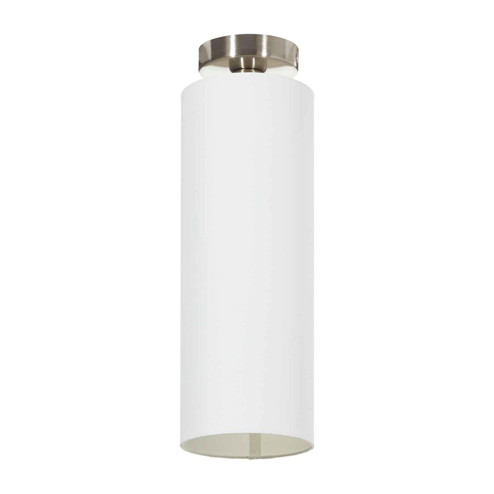 Lucande Patrik textiel-plafondlamp Ø15cm wit