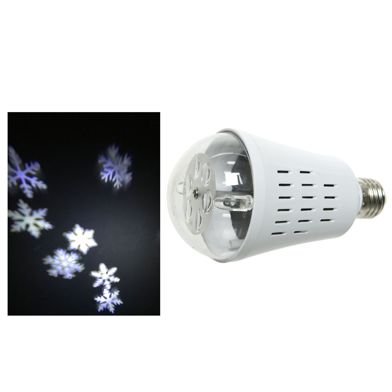LED E27 snefnug-projektorpære