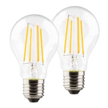 LED-Lampe E27 A60 Retro 6W 2.700K klar 2er Set