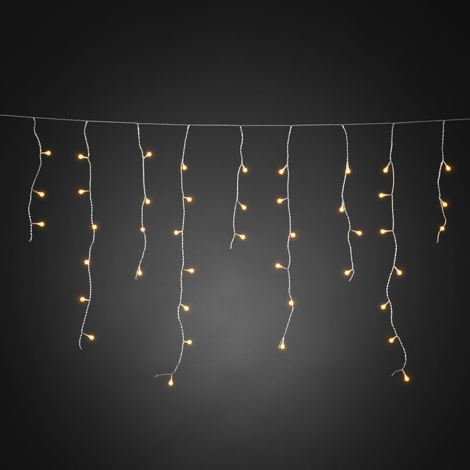 Fascinerende LED lysforheng Isregn 200 lys