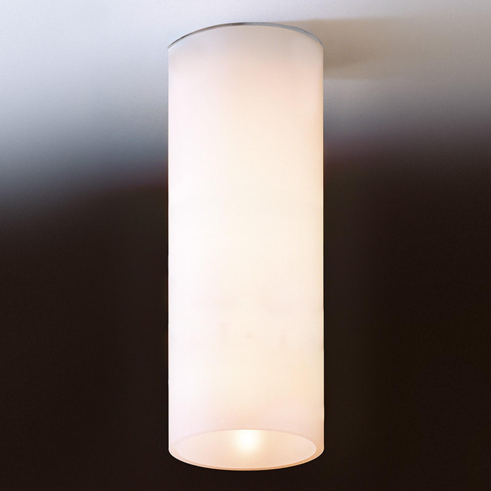 Eenvoudige plafondlamp DELA van wit glas