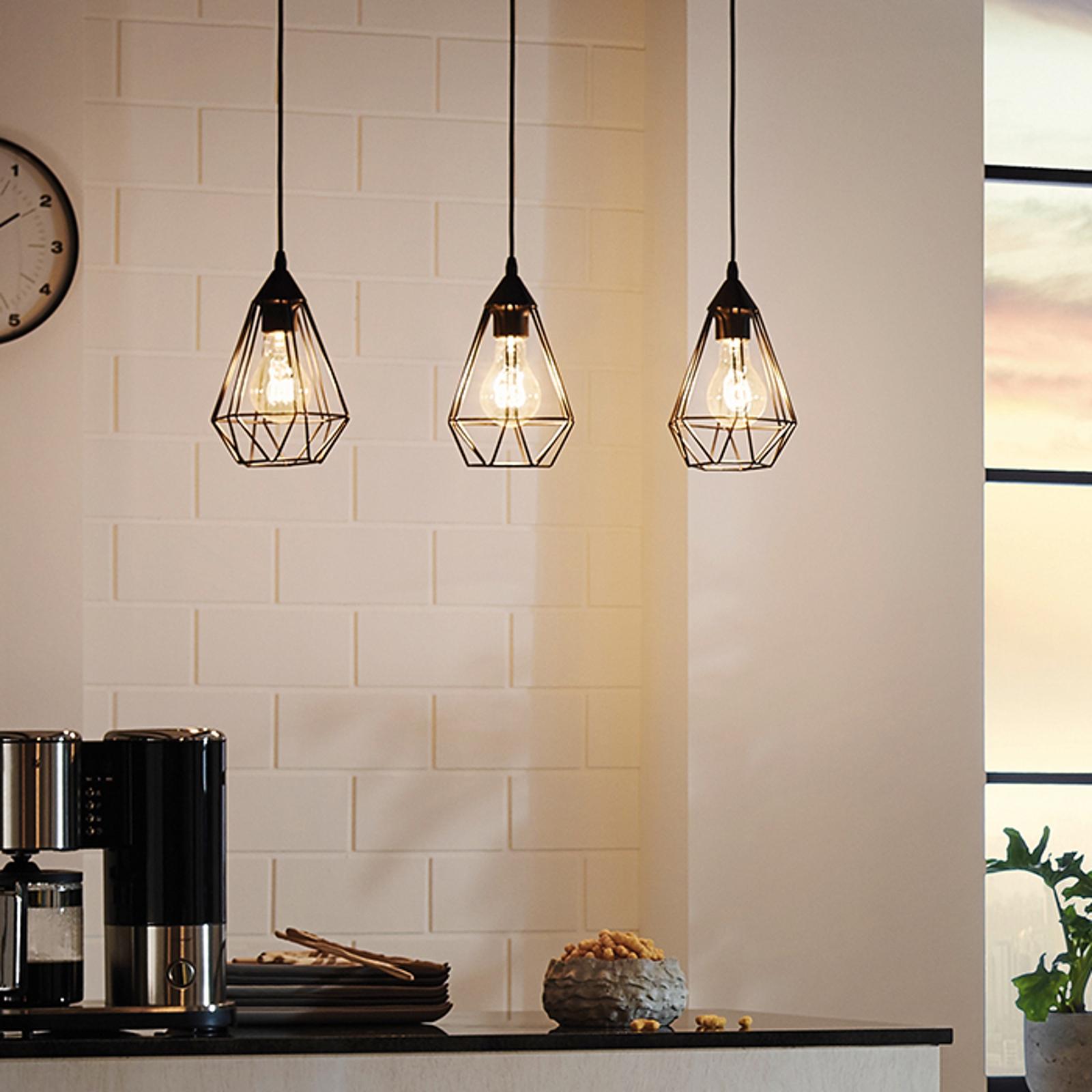 Tarbes – 3-punktowa lampa wisząca w stylu vintage