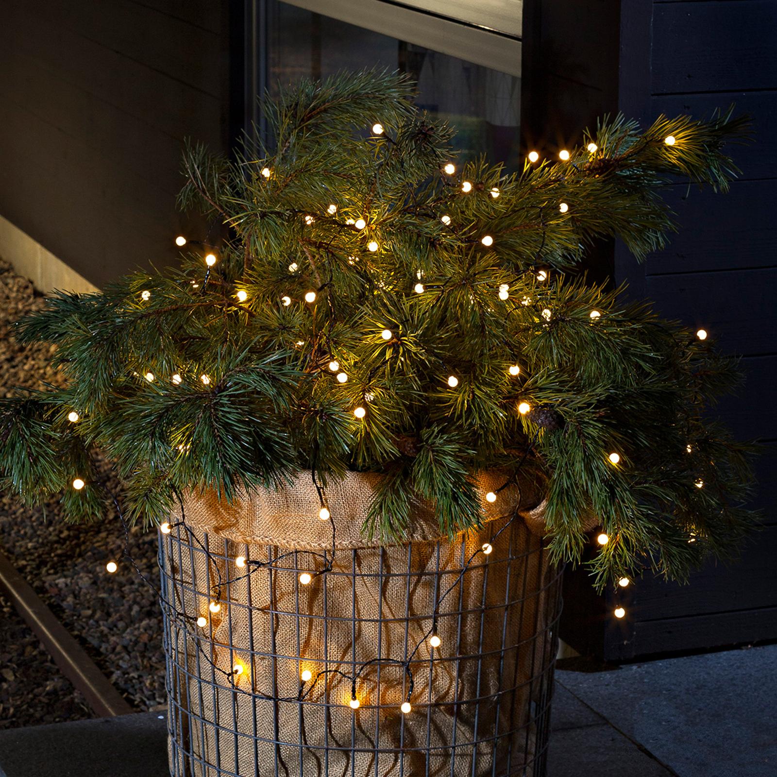 Für außen- Lichterkette LED 80-flg. warmweiß, Batt