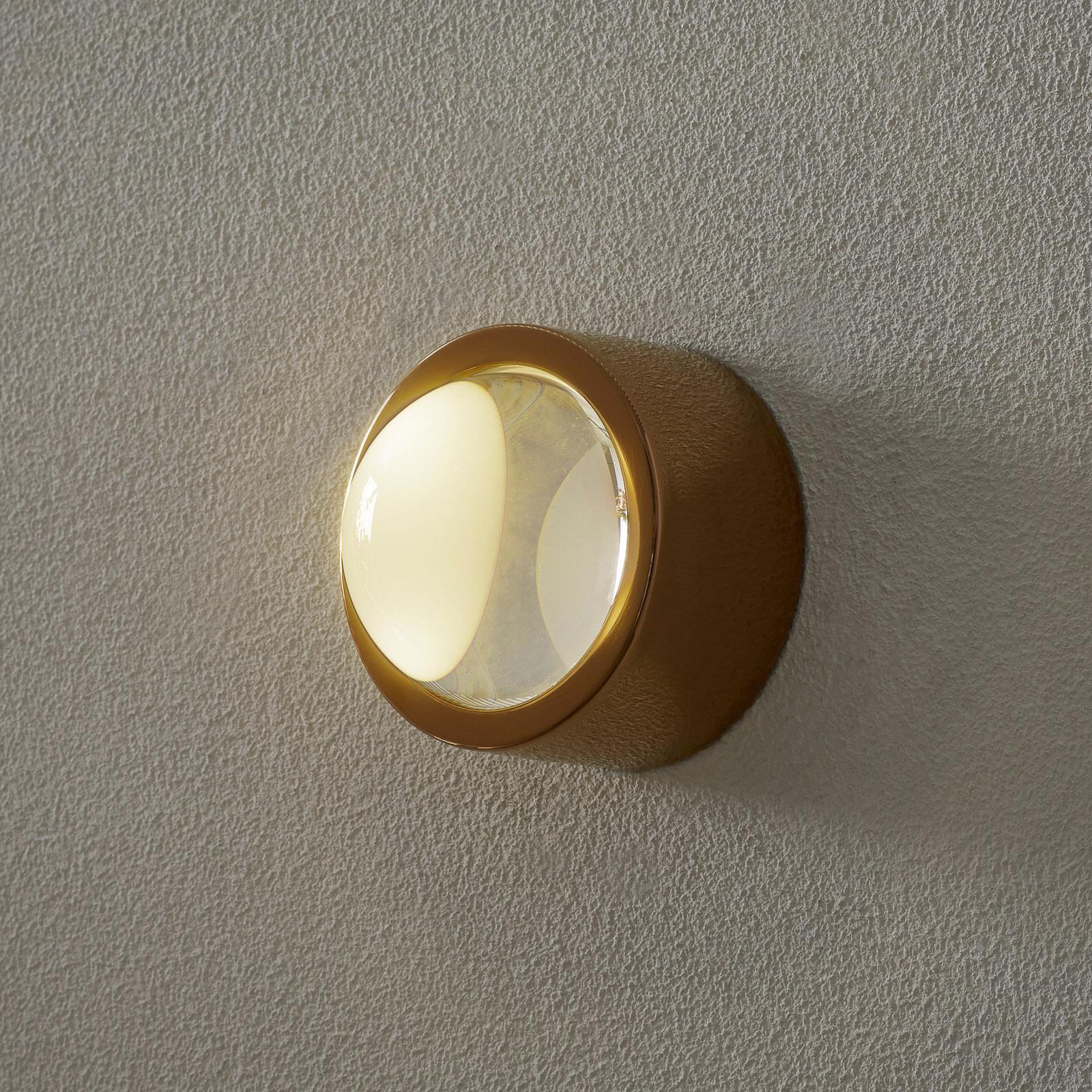 Tom Dixon Spot Surface LED-vägglampa, runt koppar