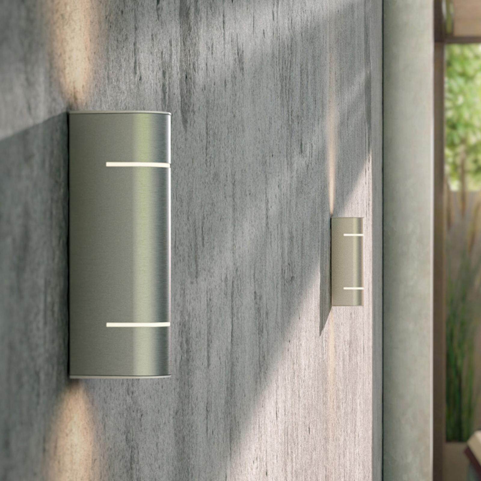 Sunset LED-buitenwandlamp van roestvrij staal
