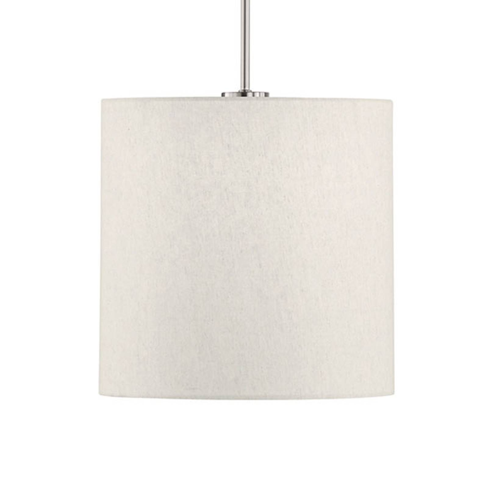 Hanglamp Marie, stoffen kap, zand, Ø 30 cm