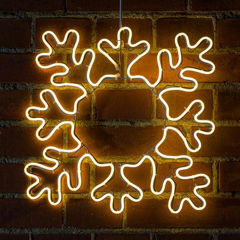 Snefnug LED-dekorationssilhuet til udendørs brug