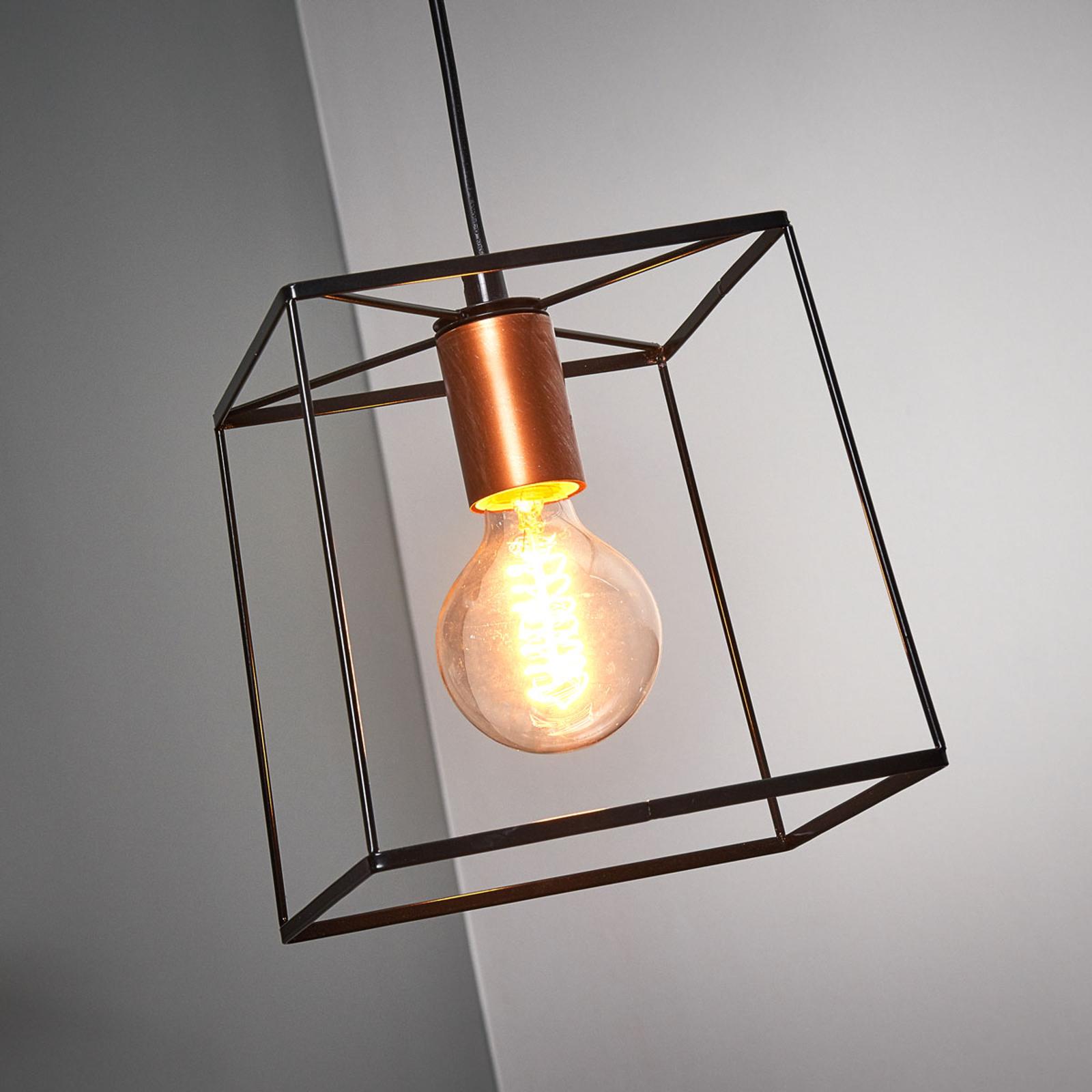 Agatha - lampa wisząca z metalową podstawą