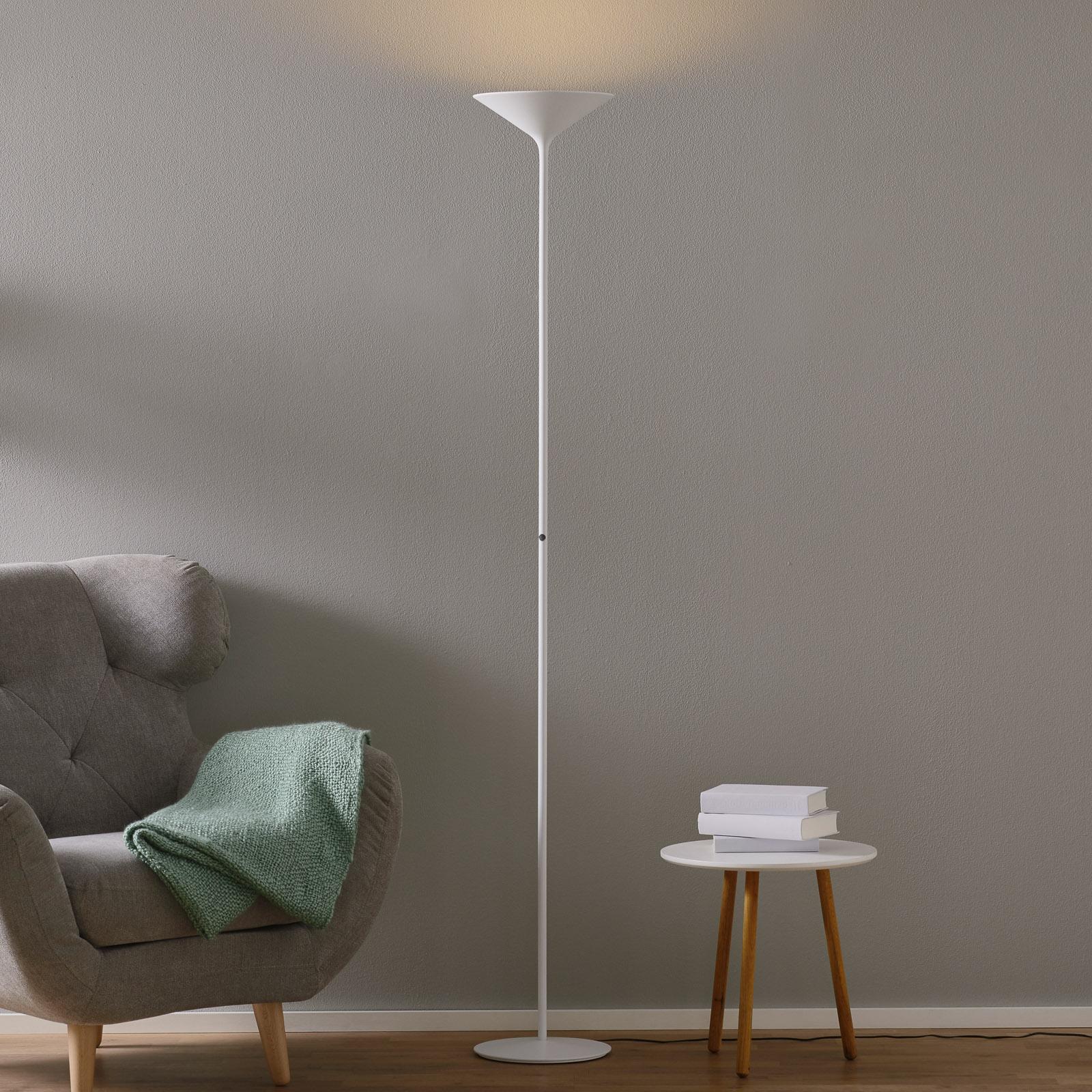 Rotaliana Dry LED-golvlampa, matt vit