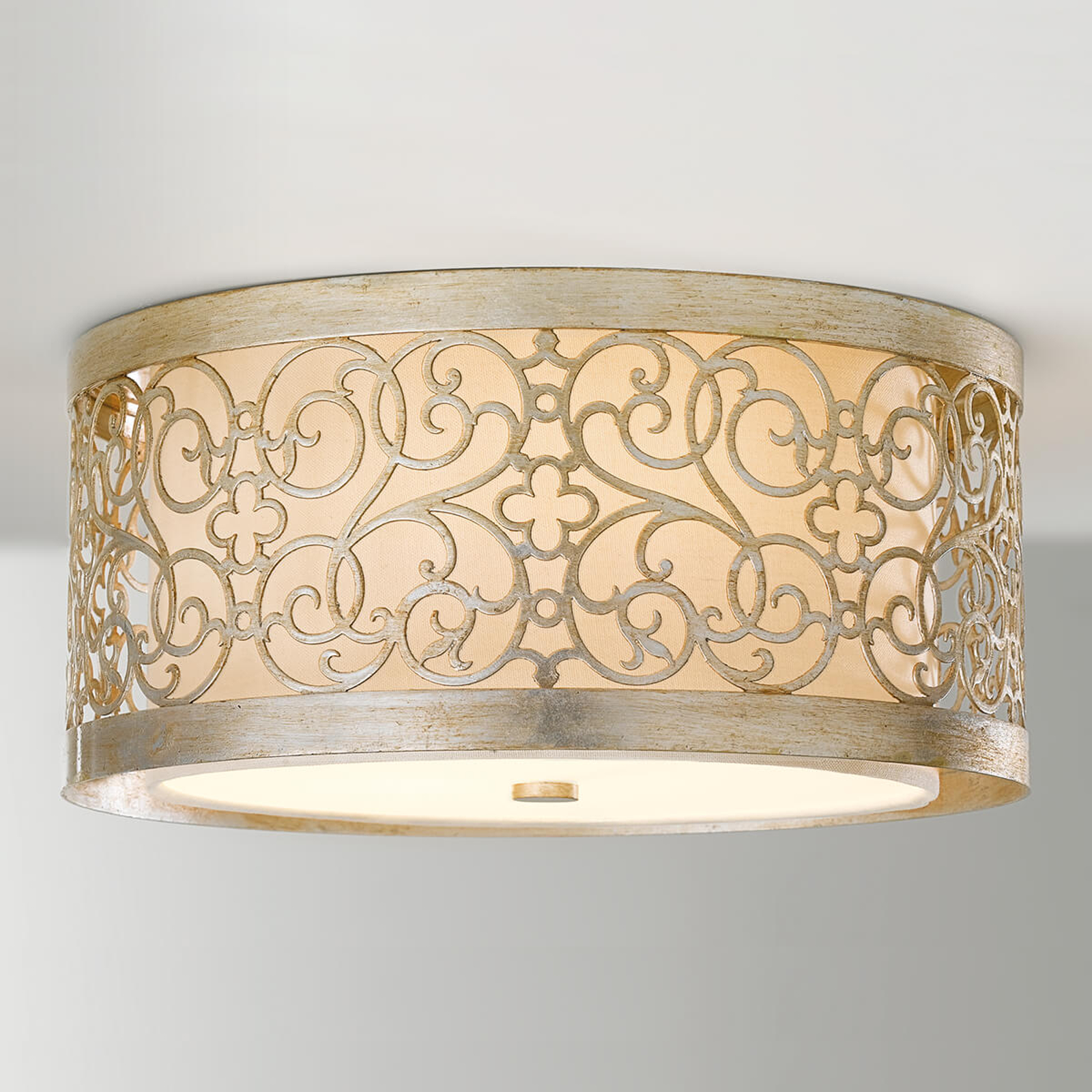 Arabesque ceiling light with double lampshade_3048244_1