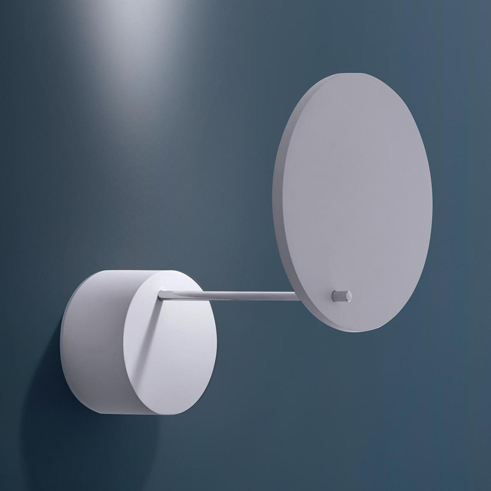 Hvit LED vegglampe Orbiter