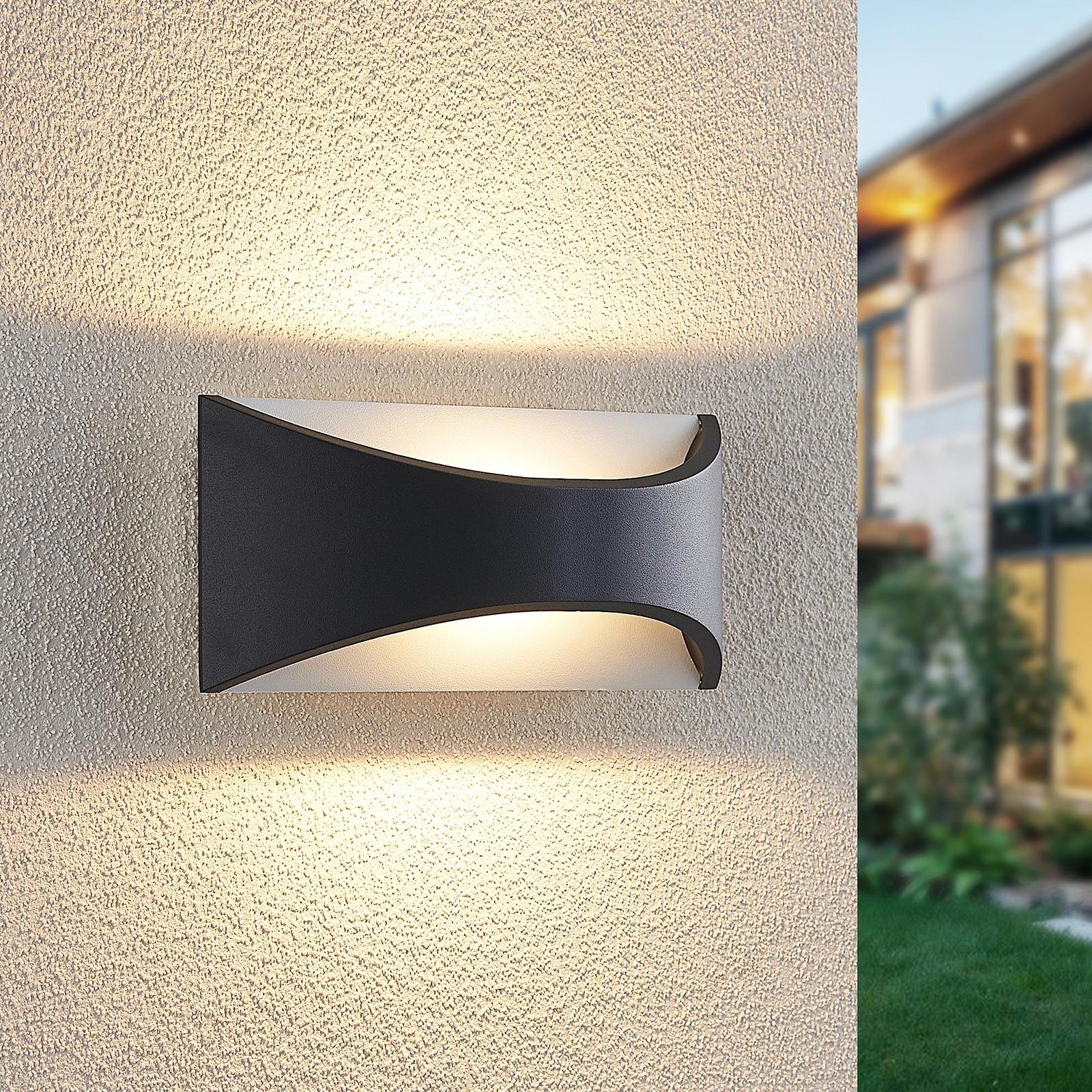 Lindby Mathea LED buitenwandlamp, lengte 22 cm