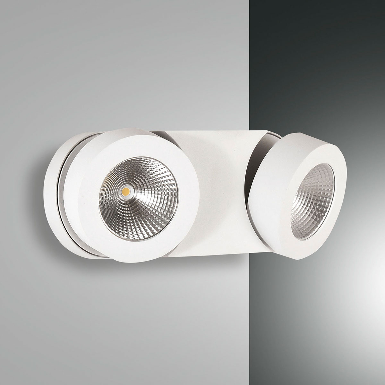 Applique murale LED Hella variable et à 2 spots