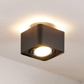 Arcchio Talima lampa sufitowa LED, kątowa, czarna