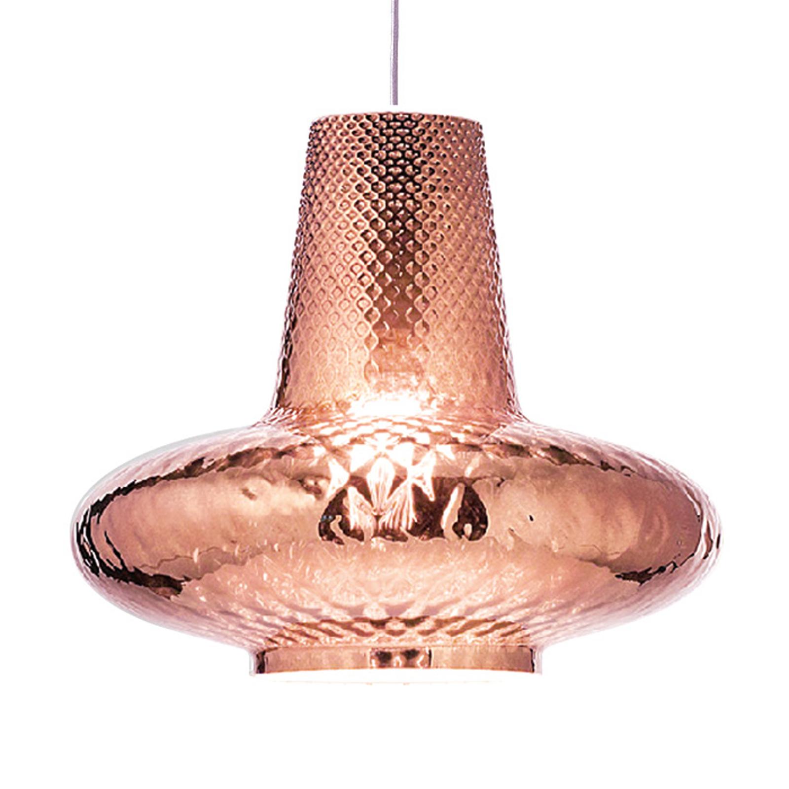 Hængelampe Giulietta 130 cm metallisk rosaguld