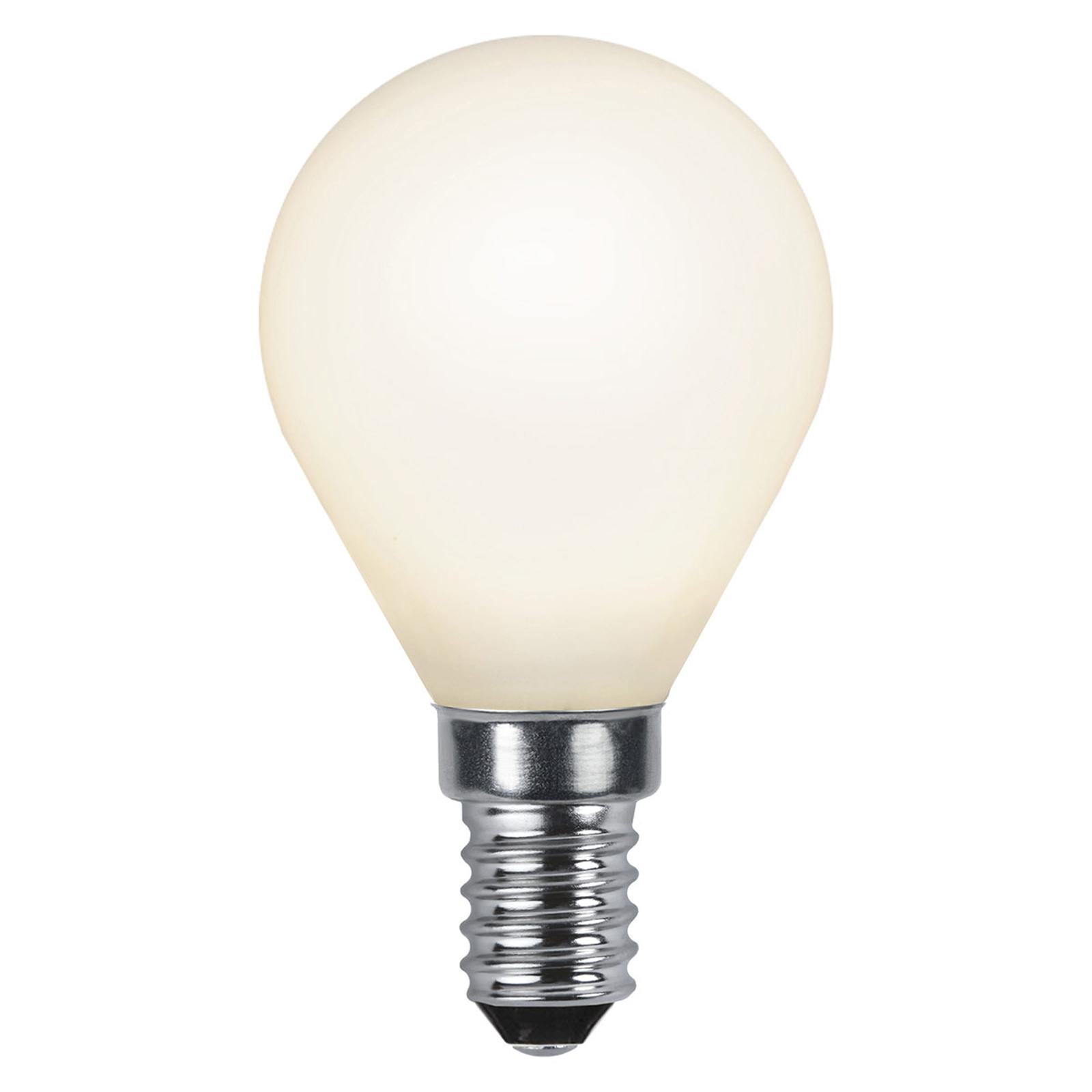 LED-dråbepære E14 2.700K, opal, Ra90 4,7W