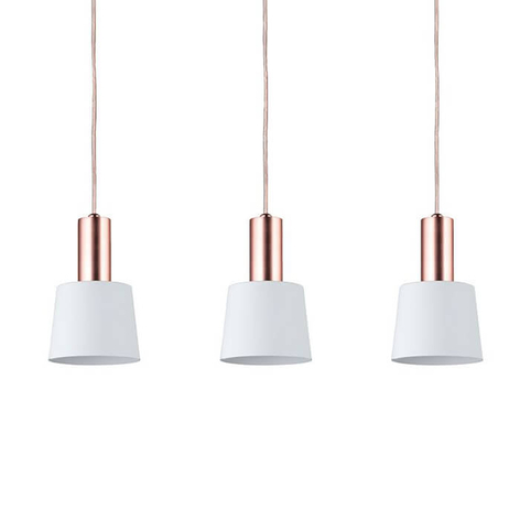 Belle suspension Haldar à 3 lampes