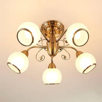 Corentin - lampada da soffitto in ottone antico
