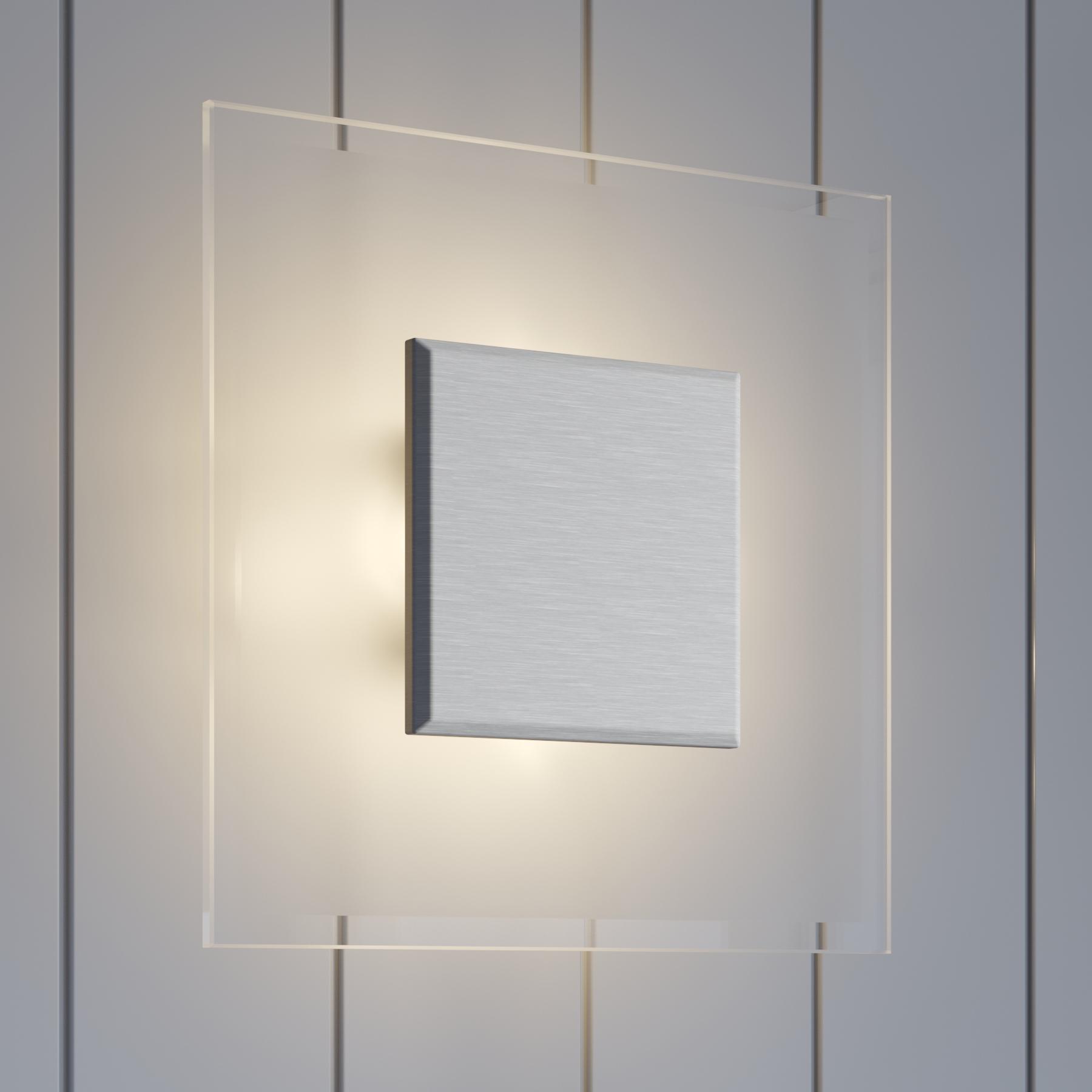 Kwadratowa lampa sufitowa LED LOLE ze szkła