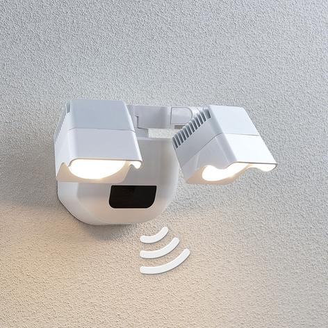 LED-Außenwandlampe Alexine mit Sensor, 2-fl.