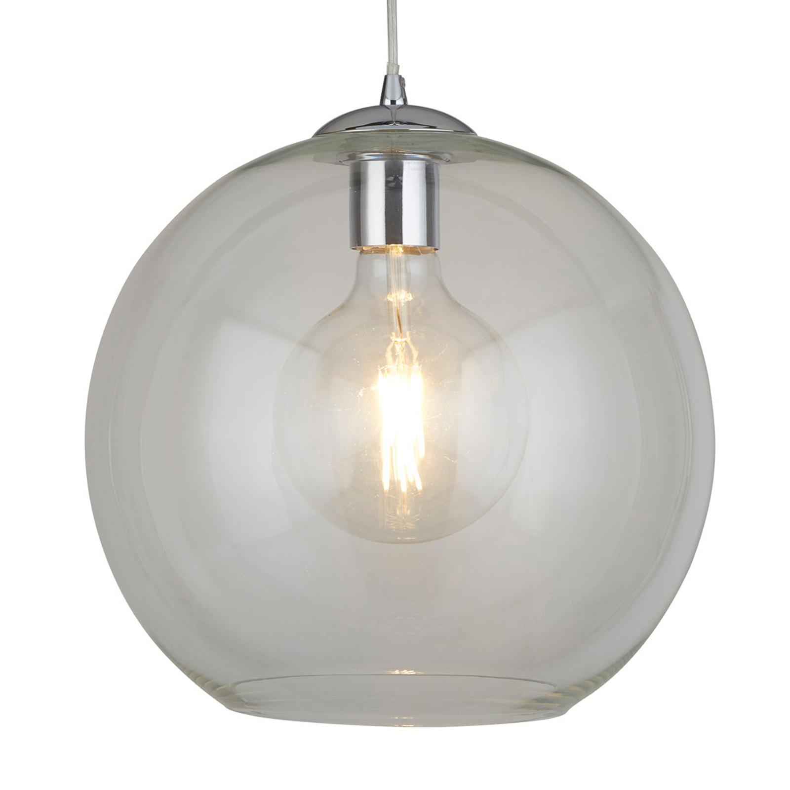 Kugelrunde Glas-Hängelampe Balls, 30 cm, klar