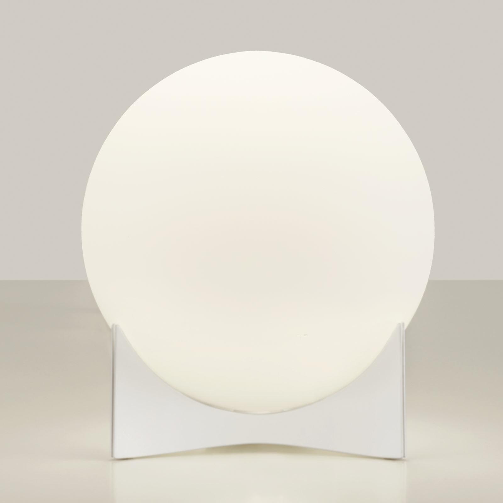 Terzani Oscar lampe à poser en verre, blanche