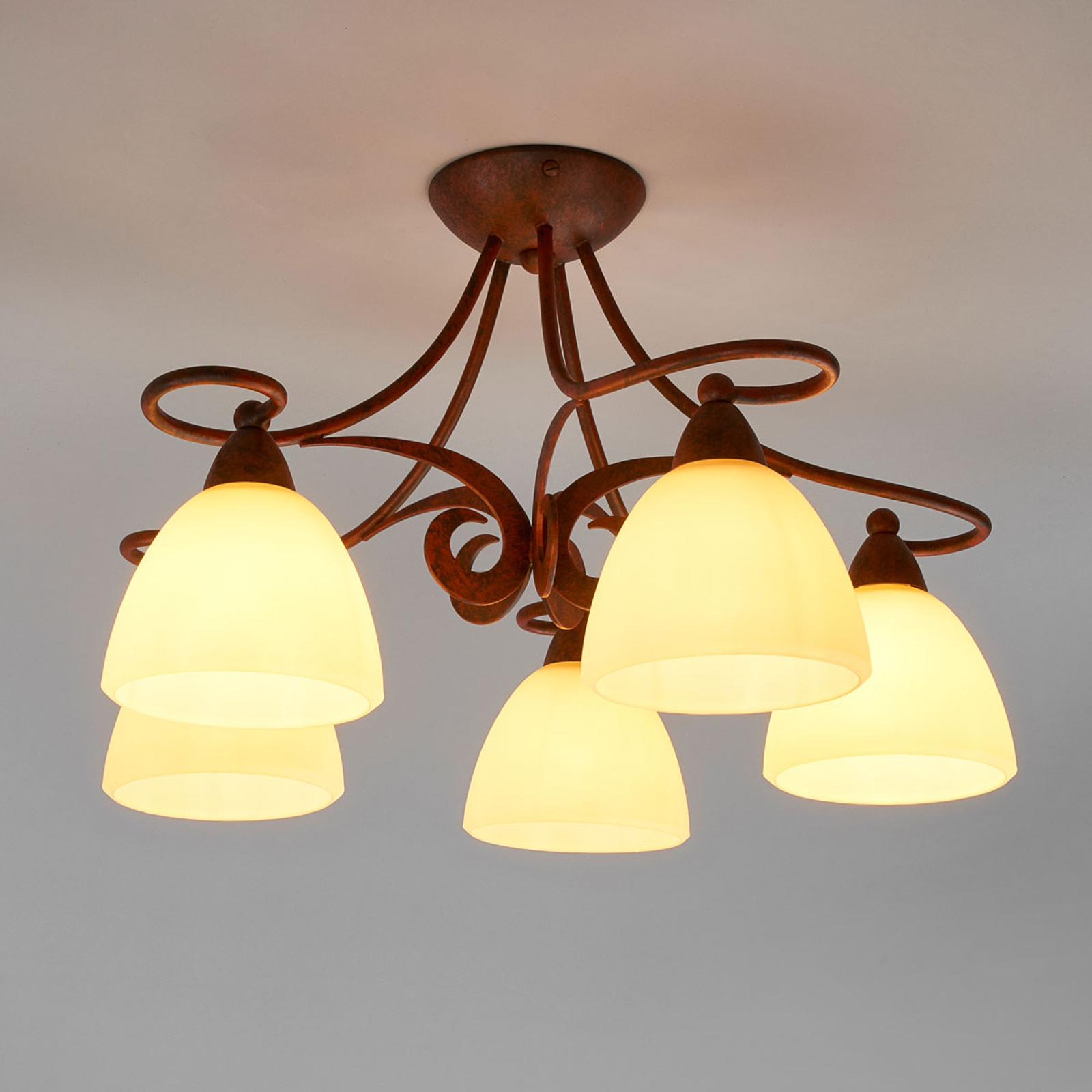 Rustykalna lampa wisząca Ginevra, 5-punktowa