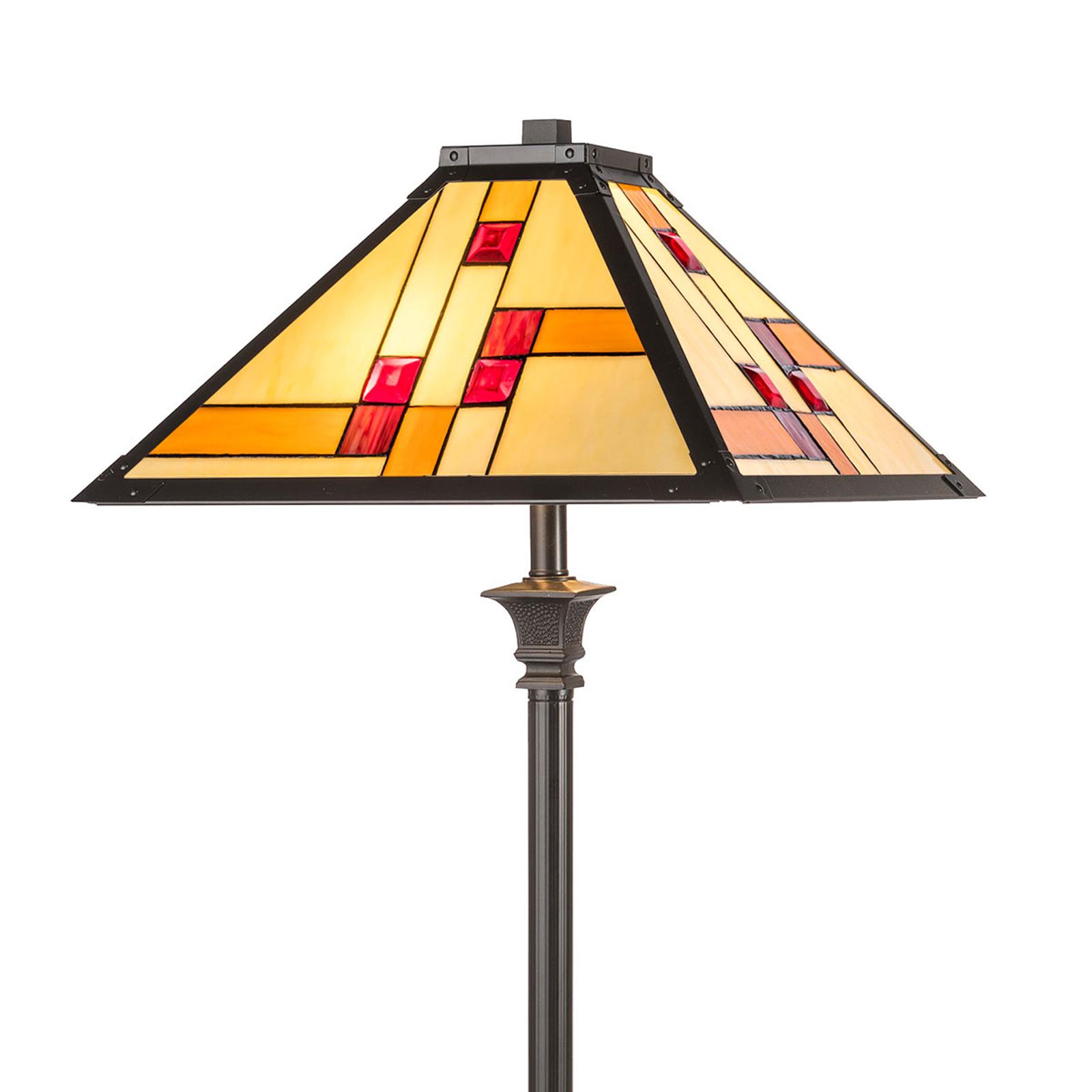 KT1836-50+P1837 standerlampe i Tiffany-stil