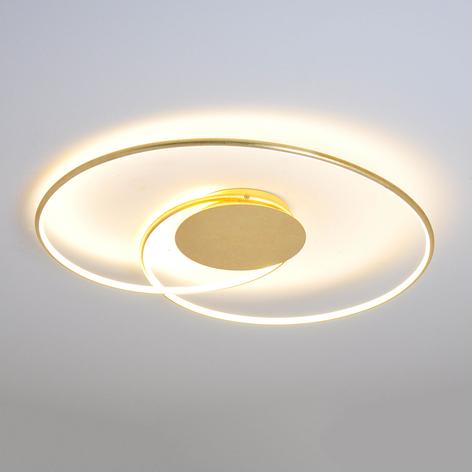 Plafón LED Joline de hermoso diseño, dorado