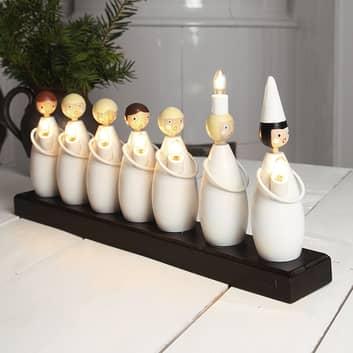 Lysande LUCIATÅG med sju figurer