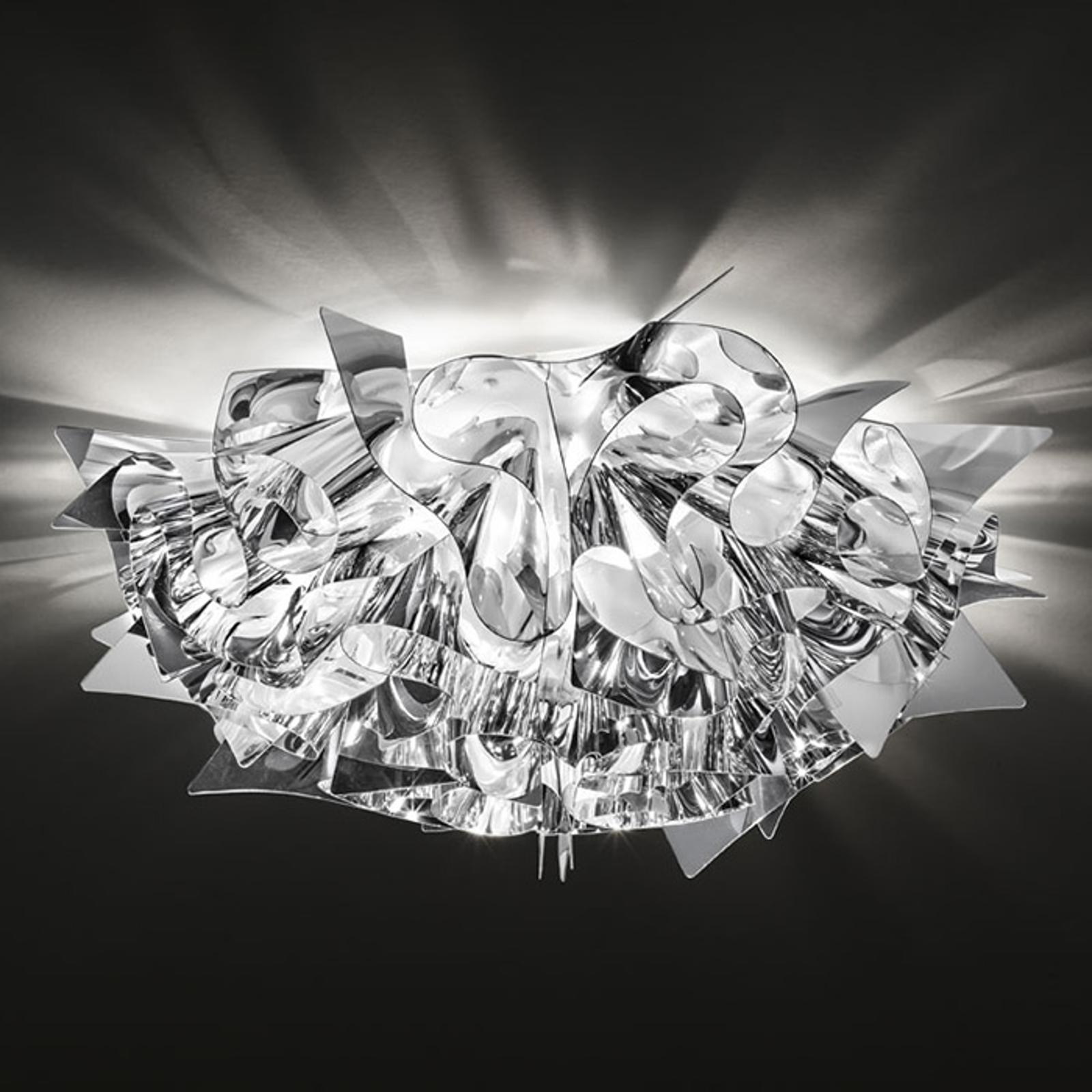 Slamp Veli Mini – design-taklampe, Ø 32 cm, sølv