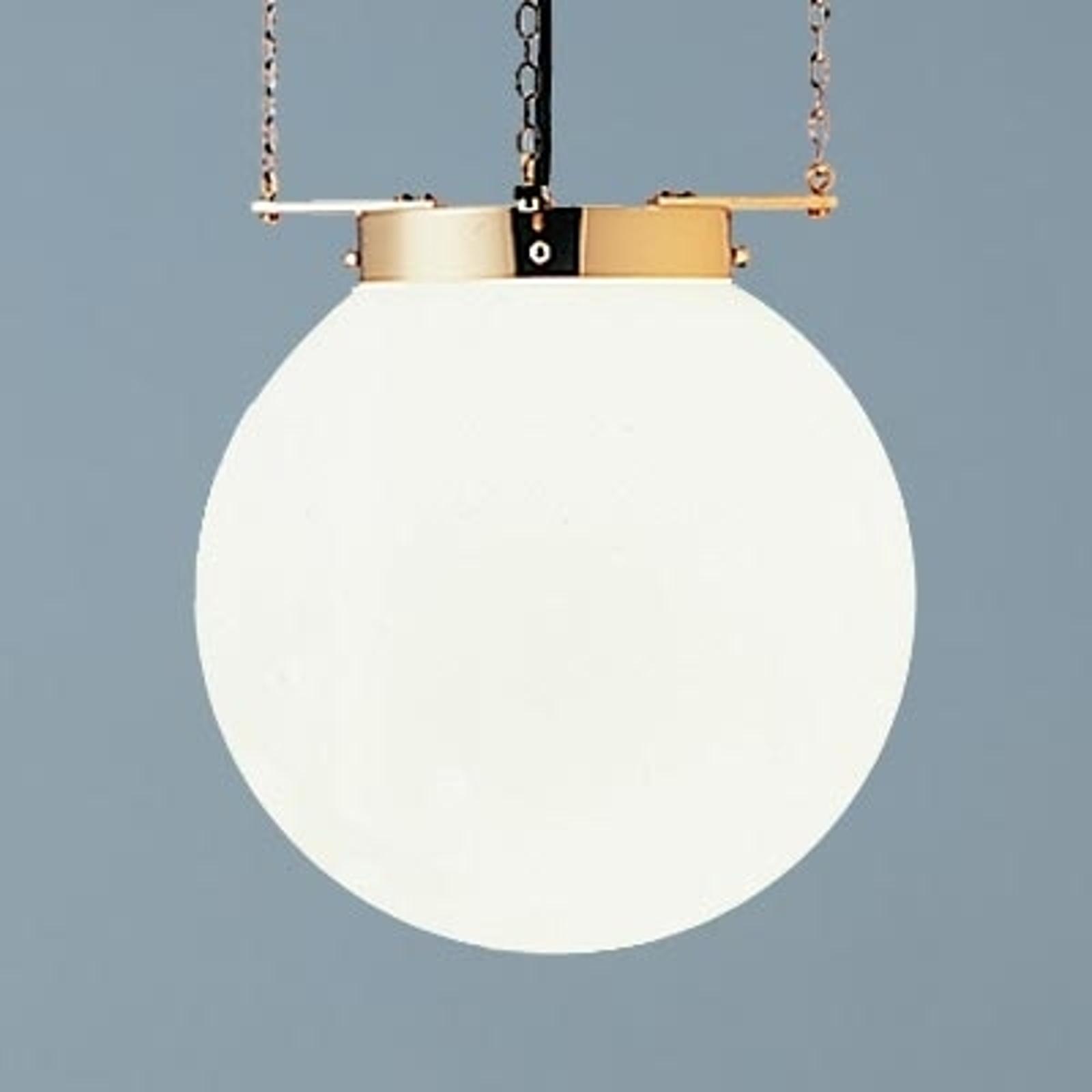 Hanglamp in Bauhaus-stijl, messing, 35 cm