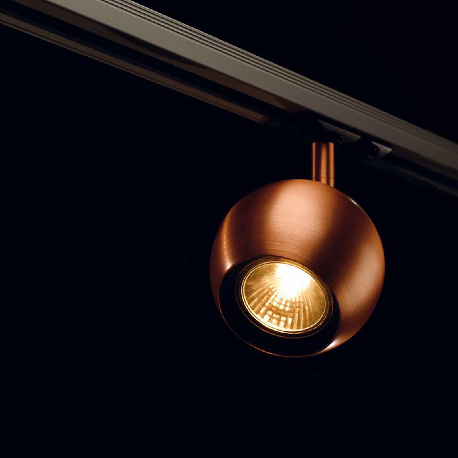 Spot rond Light Eye pour rail monophasé cuivre