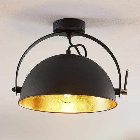 Plafondlamp Muriel, zwart-goud