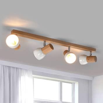 Plafonnier fonctionnel Svenda, 4 lampes