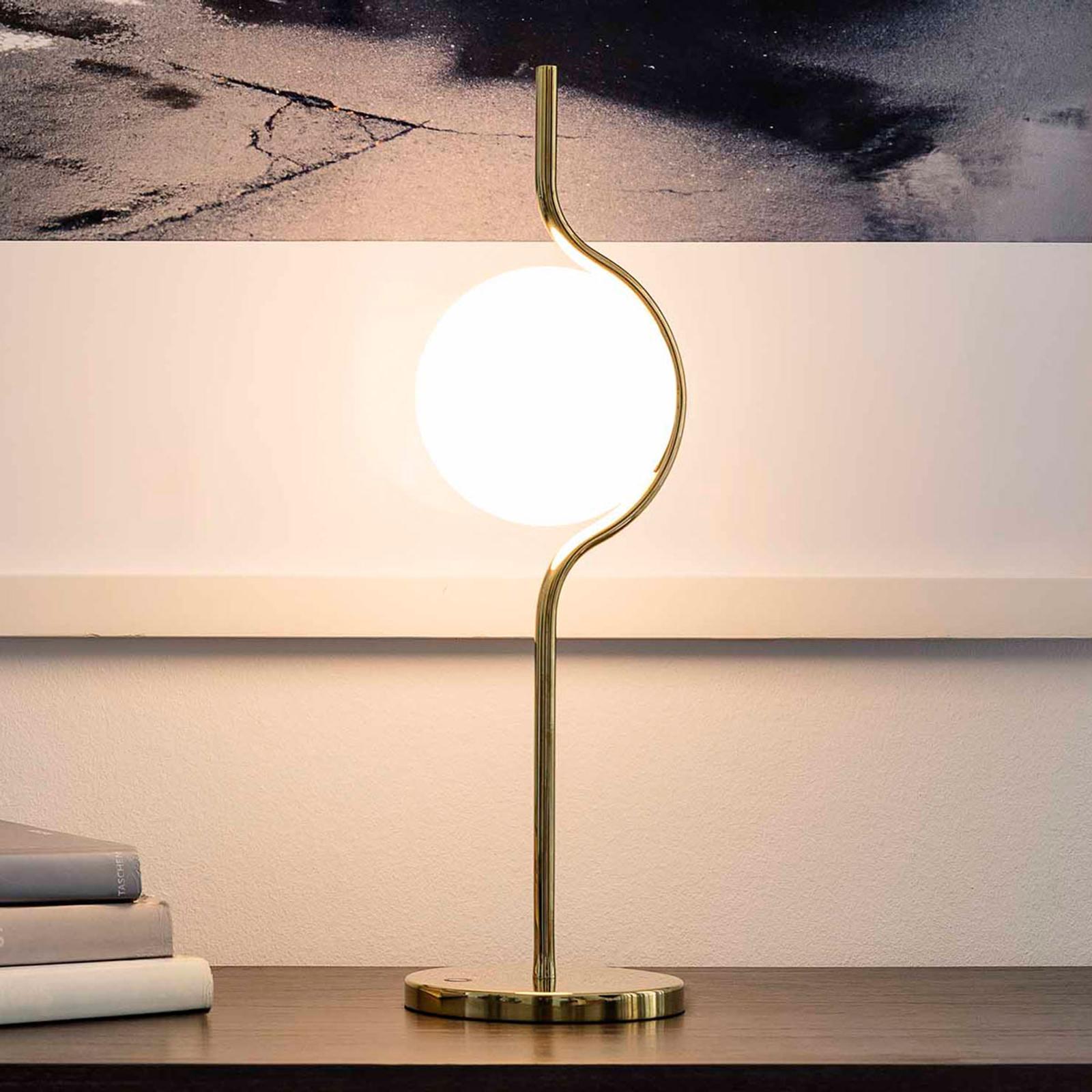 Acquista Lampada Da Tavolo Led Le Vita Con Vetro Opale Lampade It