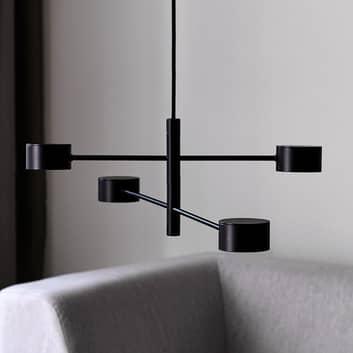 Lámpara colgante LED Clyde, 4 luces, dos etapas