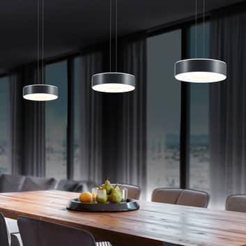 BANKAMP Tondo LED-Hängelampe dreiflammig anthrazit